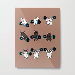 OLYMPIC LIFTING  FRENCH BULLDOG Metal Print
