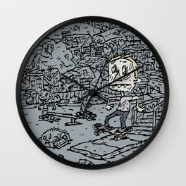 Manual pad Wall Clock