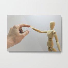 Creator touch creation Metal Print
