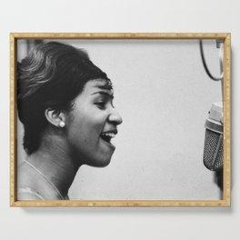 Aretha Franklin - Black Culture - Black History Serving Tray