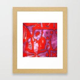 Crazy Red Framed Art Print