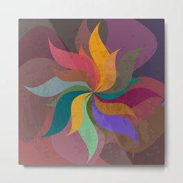 Pinwheel Grungy Abstract Design Metal Print