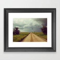 Storm Rolls into the Serengeti Framed Art Print