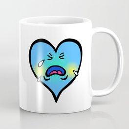 Crying Blue Heart Coffee Mug
