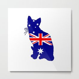 Australian Flag - Cat Metal Print