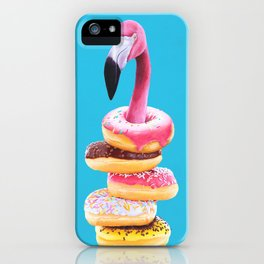 Famished Flamingo  iPhone Case
