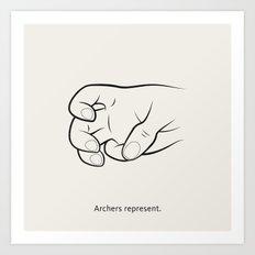 Gang Signs Art Print