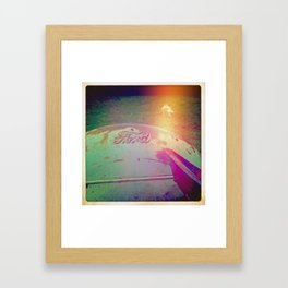 Old Yellow Framed Art Print