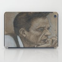 johnny cash iPad Cases featuring Johnny Cash by Tex Bigrancher