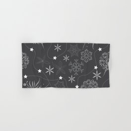 Stars on a string with snowflake and fireworks Hand & Bath Towel