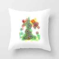 fairies Throw Pillows featuring Fairies by Foxfocus