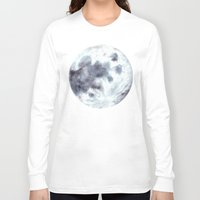 the moon Long Sleeve T-shirts featuring Moon by Bridget Davidson
