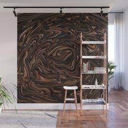 Chocolate Swirls Wall Mural