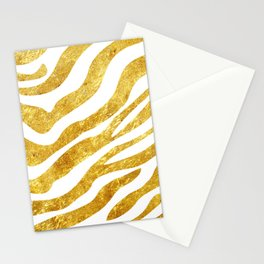 Golden Zebra Stationery Cards