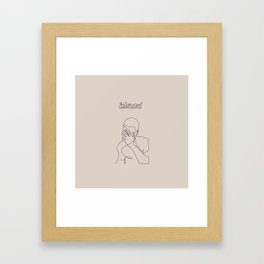 Frank   Blond Framed Art Print