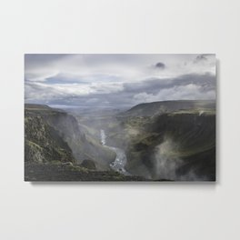 View from Haifoss (2) - Iceland Metal Print