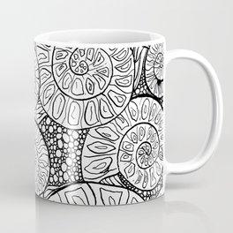 Ammonite Fossil Pattern Coffee Mug