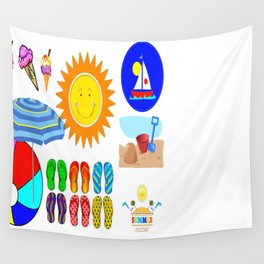 Seaside Fun & Sun Wall Tapestry
