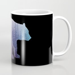 Misty Forest Bear - colorful rainbow Coffee Mug