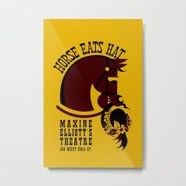 Horse eats hat Metal Print
