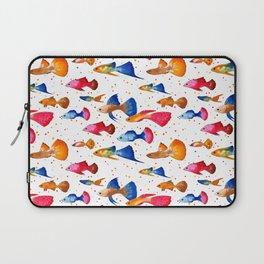 Guppy fish WHITE Laptop Sleeve
