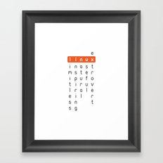 Linux - limitless, inspiring, natural, useful, extrovert - horizontal Framed Art Print