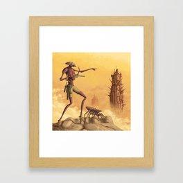 Scouting the Badlands Framed Art Print