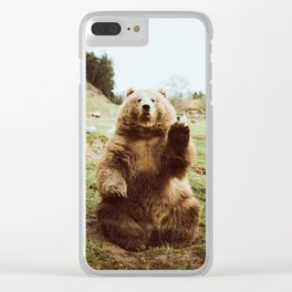 Hi Bear Clear iPhone Case