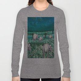 Elefantes en movimiento. Long Sleeve T-shirt