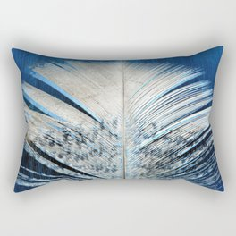 Feather | Feathers | Spiritual | White and Blue Feather | Nature Rectangular Pillow