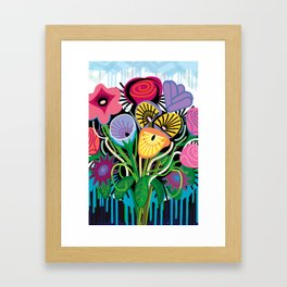Dripping Gardens Framed Art Print