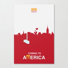 Coming to America - minimal poster Canvas Print