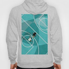 Shoot Hoops Basketball Court | Aerial Illustration Hoody