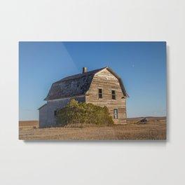 Barn House, Wells County, North Dakota 8 Metal Print