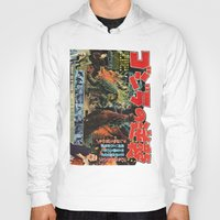 godzilla Hoodies featuring Godzilla by Golden Boy