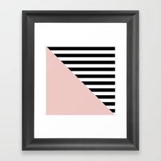 Diagonal quartzo Framed Art Print