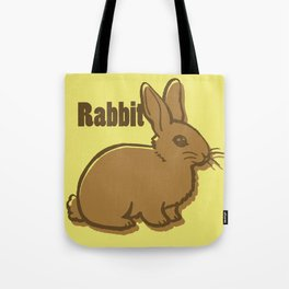 Animal Alphabet - Rabbit Tote Bag