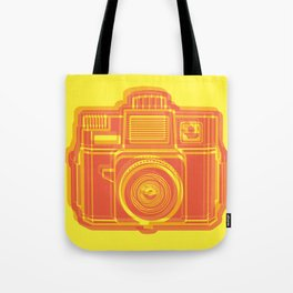 I Still Shoot Film Holga Logo - Yellow & Red Tote Bag