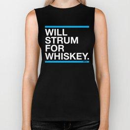 Will Strum For Whiskey Biker Tank