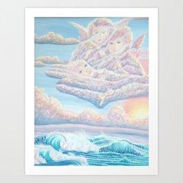 Les anges gardiens de l'amour Art Print