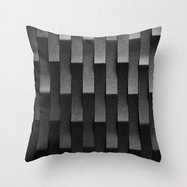 Black Srtipes Throw Pillow
