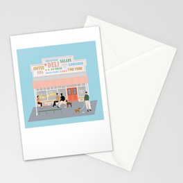 Queen Sally's Diamond Deli, Lyall Bay, Wellington, NZ Stationery Cards