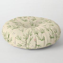 Desert Tan with Coral Blooms Floor Pillow