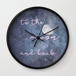 Moon and Back Wall Clock
