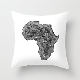 ROOTED (NIGERIA) Throw Pillow