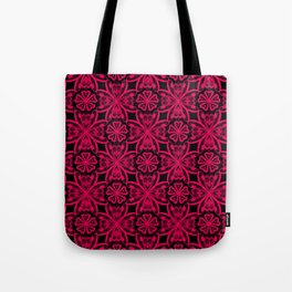 Red Lace on black . Tote Bag