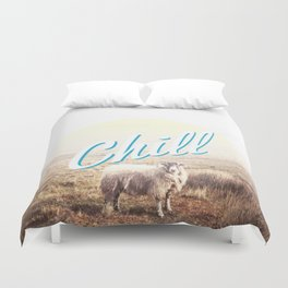 Sheep - chill Duvet Cover