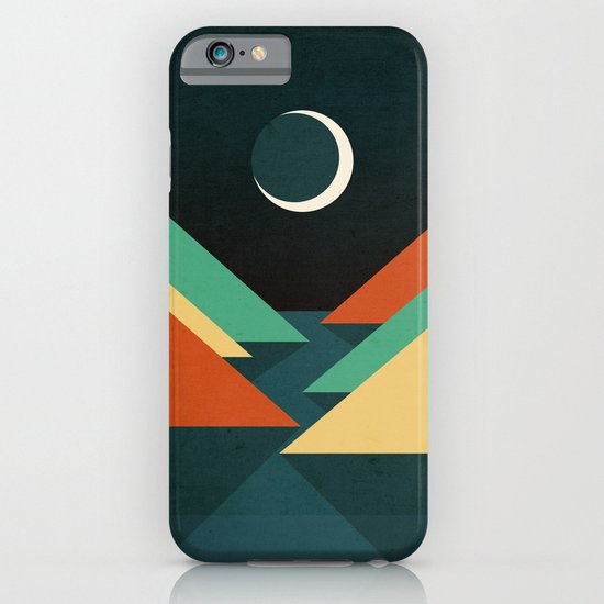 Quiet stream under crescent moon iPhone & iPod Case