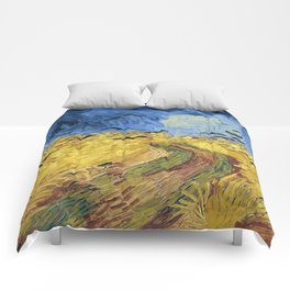 Wheatfield with Crows by Vincent van Gogh Comforters