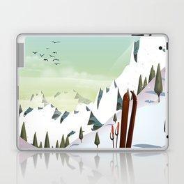 Portillo Ski Chile Ski travel poster. Laptop & iPad Skin